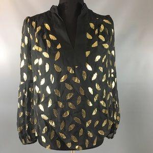 Black and Gold Blouse by Diane von Furstenberg
